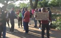 FILE: University of Johannesburg students demonstrating outside Kingsway campus on 22 October 2015. Picture: Gia Nicolaides/EWN.