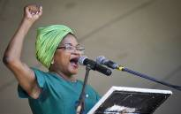 FILE: Baleka Mbete addresses a gathering of ANC supporters at the 104 birthday rally in Grabouw. Picture: Thomas Holder/EWN