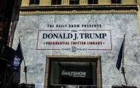 Trevor Noah and the 'Daily Show' opened the Donald J Trump Presidential Twitter Library. Picture: @TheDailyShow