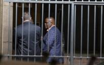 Former acting National Police Commissioner Khomotso Phahlane is seen at the Commercial Crimes Court in Pretoria on 8 February where he was appearing on fraud and corruption charges. Picture: Ihsaan Haffejee/EWN