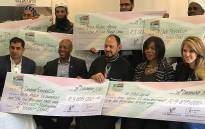 Former Public Protector Thuli Madonsela (second from right) with representatives from Operation South Africa. The group has raised funds to assist war-torn Syria. Picture: @OperationSA.