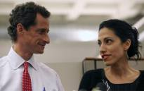 Huma Abedin, wife of Anthony Weiner, a leading candidate for New York City mayor, speaks during a press conference on July 23, 2013 in New York City. Weiner addressed journalists regarding fresh allegations against him. Source:AFP