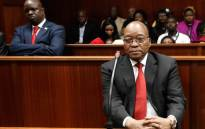 FILE: Former South African president Jacob Zuma in the dock at the Durban High Court on 6 April 2018 for a preliminary hearing related to charges of fraud, corruption and racketeering. Picture: AFP