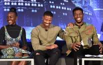 Actors Lupita Nyong'o, Michael B. Jordan, and Chadwick Boseman attend the Marvel Studios' Black Panther Global Junket Press Conference on 30 January 2018 at Montage Beverly Hills. Picture: AFP
