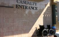 Hospital casualty entrance. Picture: EWN.