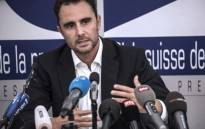 Herve Falciani, the former HSBC employee who leaked documents alleging the bank helped clients evade millions of dollars in taxes, gestures as he gives a press conference in Divonne-les Bains on 28 October 2015. Picture: AFP.