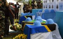FILE: Monusco holds a memorial ceremony for the 15 Tanzanian peacekeepers who died following an attack at Semuliki in Beni territory, North Kivu on 7 December 2017. Picture: United Nations Photo.