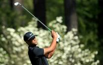 Tony Finau of the United States plays his second shot on the 11th hole during the first round of the 2018 Masters Tournament at Augusta National Golf Club on 5 April 2018 in Augusta, Georgia. Picture: AFP