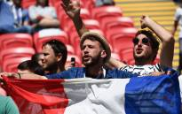 France fans cheer before the Russia 2018 World Cup Group C football match between France and Australia at the Kazan Arena in Kazan on June 16, 2018. Picture: AFP.