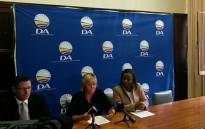 DA MP Glynnis Breytenbach, Werner Horn and Phumzile Van Damme address the media on the party's position on Public Protector candidate Busisiwe Mkhwebane. Picture: Twitter/@Our_DA.