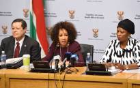 FILE: International Relations Minister Lindiwe Sisulu seen during a media briefing on 15 May 2018. Picture: @DIRCO_ZA/Twitter
