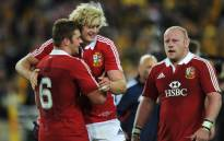 FILE: Players from the British and Irish Lions celebrate a win. Picture: AFP