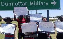 This file photo shows R2K members protesting in solidarity with the Marievale community at SANDF in Marievale, Lenasia and Pretoria, on 13 December 2017. Picture: instargram.com