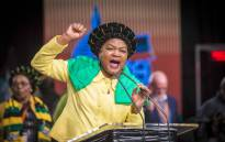 Baleka Mbete on the final day of the ANC national policy conference on 5 July 2017. Picture: Thomas Holder/EWN.
