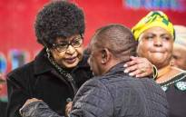 FILE: Winnie Madikizela-Mandela greets Deputy President Cyril Ramaphosa at the ANC national policy conference at Nasrec on 30 June 2017. Picture: Thomas Holder/EWN
