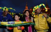 Brazil football fans in Russia for the 2018 Fifa World Cup. Picture: AFP
