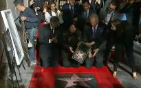 A screengrab of the Hollywood walk of fame with Selena Quintanilla's name on the star in her honor. CNN/screengrab