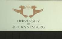 University of Johannesburg logo. Picture: Kgothatso Mogale/EWN.