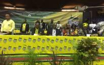 ANC chair Sihle Zikalala, Treasurer Dr Zweli Mkhize, Dr Nkosazana Dlamini-Zuma and Cosatu's Sdumo Dlamini attending the KwaZulu-Natal ANC provincial general council. Picture: Ziyanda Ngcobo/EWN.