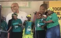 ANC presidential hopeful Nkosazana Dlamini-Zuma and ANCWL members preparing for their door-to-door campaign in Tshwane. Picture: Clement Manyathela/EWN.