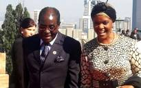 Zimbabwean president Robert Mugabe and his wife at the presidential inauguration at the Union Buildings in Pretoria. Picture: GCIS.