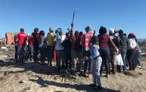 FILE: A group of disgruntled Vrygrond residents protesting for a piece of vacant land on 17 April 2018. Picture: Cindy Archillies/EWN