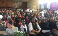Hundreds have gathered at the Mmanotshe Maduane High School in Hebron to celebrate the life of Ontlametse Phalatse. Picture; Victor Magwedze/EWN.