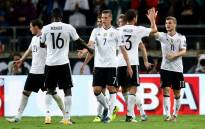 German players celebrate a victory in their 2018 Fifa World Cup qualifier against Norway on 4 September 2017. Picture: @FIFAWorldCup/Twitter