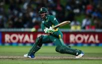 Quinton de Kock batting during South Africa's first One-Day International against Bangladesh at the Diamond Oval. Picture: @OfficialCSA/Twitter.