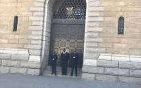 Security guards at National Treasury. Picture: EWN