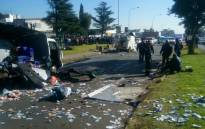 The scene of a cash-in-transit heist in Boksburg. Picture: Supplied.