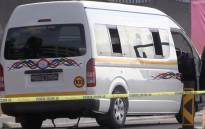 A screengrab of an abandoned minibus taxi in Fourways Boulevard. Picture: EWN