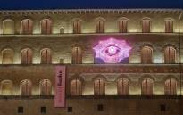 "Spotted around Florence, pink posters announce the opening of the ""Gucci Garden"", which includes an exhibition area, a bazaar-like boutique and a cinema room. Picture: Facebook.com."