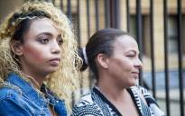 Debbie and her daughter Gabriela Engels at the Pretoria High Court appear for an interlocutory application seeking permission to serve papers to Grace Mugabe in Zimbabwe. Gabriela was allegedly assaulted by the Zimbabwean first lady in a Sandton Hotel last month. Picture: Thomas Holder/EWN