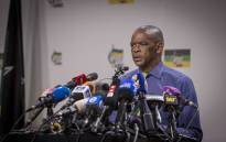 ANC SG Ace Magushule briefs the media at Luthuli House on the NEC meeting that resulted in the decision to recall Jacob Zuma. Picture: Thomas Holder/EWN.