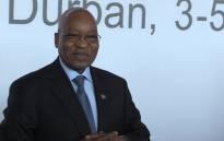 President Jacob Zuma attending the World Economic Forum Africa in Durban. Picture: Kgothatso Mogale/EWN