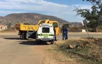 Police patrolling the area in Vuwani. Picture: Pelane Phakgadi/EWN.
