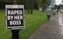 Women from Joe Public United, a communications agency, launched a campaign on 22 March 2018 to raise awareness around abuse. Picture: Refilwe Pitjeng/EWN