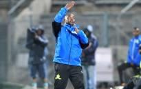 Mamelodi Sundowns coach Pitso Mosimane gestures during a match. Picture: @Masandawana/Twitter