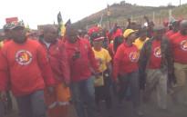 FILE: NUM members marching. Picture: Twitter @_cosatu.