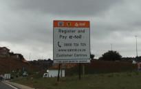 An e-toll sign on the N1 in Johannesburg.  Picture: Christa van der Walt/EWN