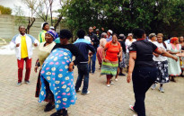 FILE: Some Marlboro residents singing and dancing during a protest. Picture: Masego Rahlaga/EWN.