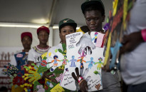 A group of young women present pieces of art during a World Aids Day event in Daveyton, east of Johannesburg, on 1 December 2016. Picture: Reinart Toerien/EWN