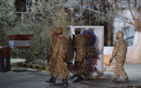Pakistani army soldiers arrive at the Balochistan Police Training College in Quetta after militants attacked the police academy. Picture: AFP