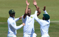 FILE: The Proteas celebrate the fall of a wicket. Picture: @OfficialCSA.