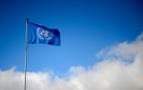FILE: A flag of the United Nations. Picture: AFP.