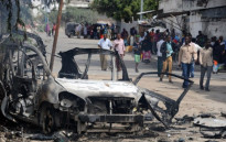 FILE: The site of a major car bomb and gun attack against an intelligence headquarters and detention facility in the centre of Mogadishu. Picture: AFP
