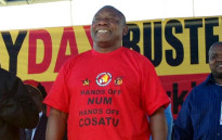 Cyril Ramaphosa at a Workers Day rally in Rustenburg. Picture: Gia Nicolaides/EWN.
