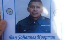 FILE: Constable Ben Koopman was shot in front of his house in February 2016. Picture: Ilze-Marie Meintjes/EWN.