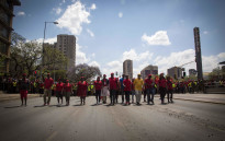 FILE: Julius Malema, Floyd Shivambu and other top EFF members lead the march from Pretoria's Church Square to the Union Buildings. Picture: Thomas Holder/EWN.